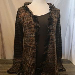 Bke Sweater The Buckle Cardigan Open Confetti Wool